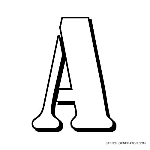 Australian Flying Corps Alphabet Stencil A