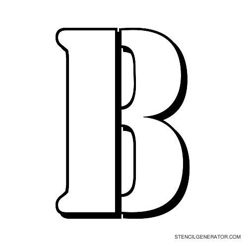 Australian Flying Corps Alphabet Stencil B