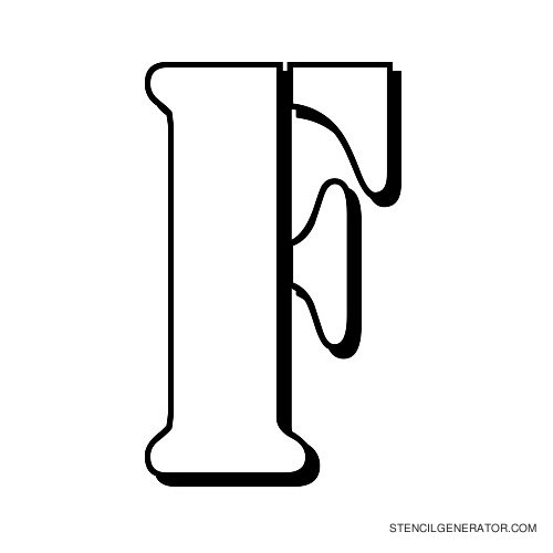 Australian Flying Corps Alphabet Stencil F
