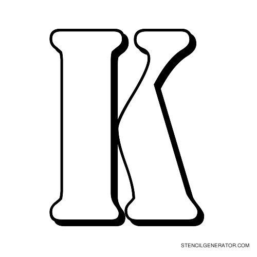Australian Flying Corps Alphabet Stencil K