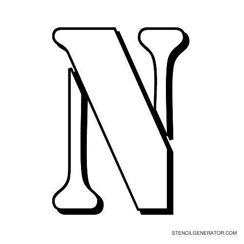 Australian Flying Corps Alphabet Stencil N
