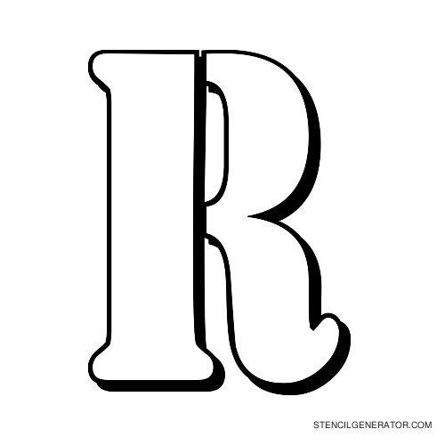 Australian Flying Corps Alphabet Stencil R