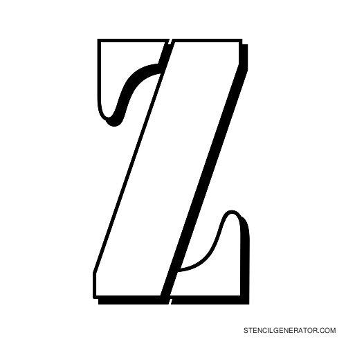 Australian Flying Corps Alphabet Stencil Z