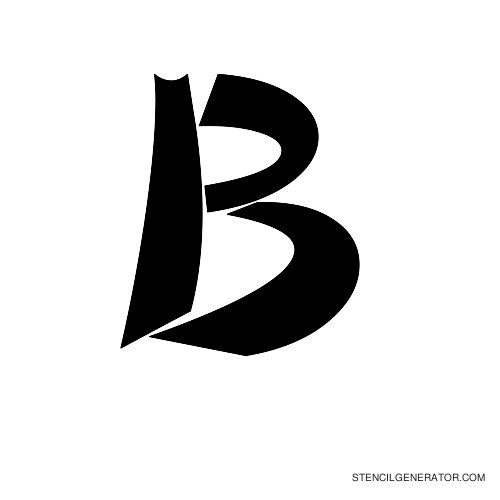 Domo Aregato Alphabet Stencil B
