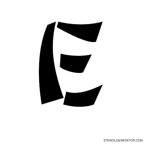 Domo Aregato Alphabet Stencil E
