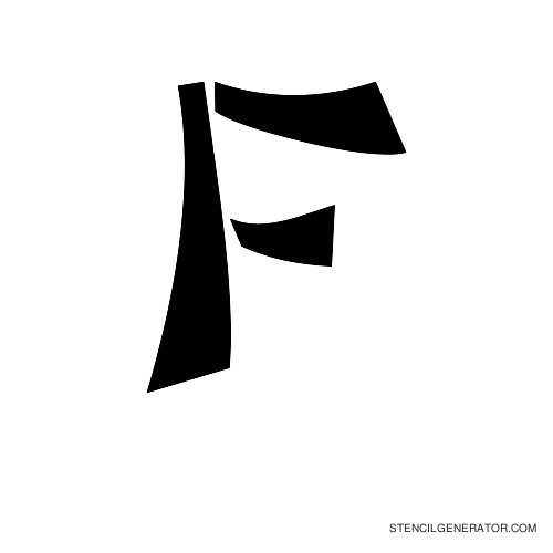 Domo Aregato Alphabet Stencil F