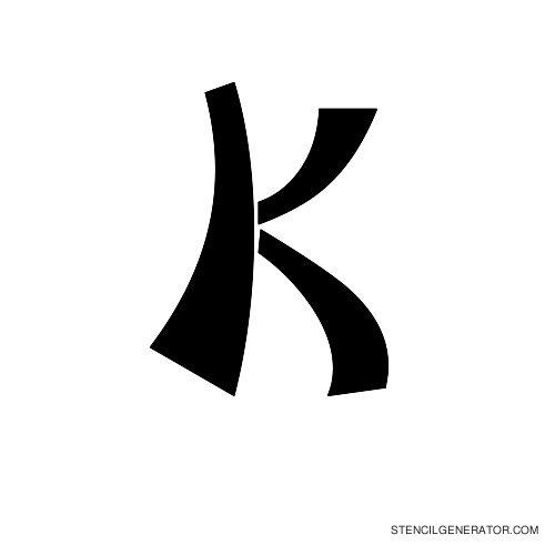 Domo Aregato Alphabet Stencil K