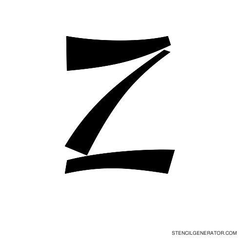 Domo Aregato Alphabet Stencil Z