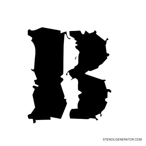 Due Date Alphabet Stencil B