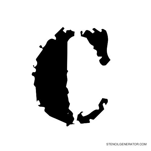 Due Date Alphabet Stencil C