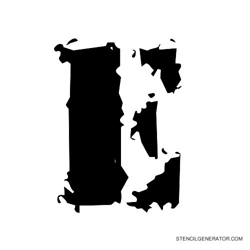 Due Date Alphabet Stencil E