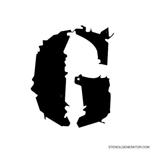 Due Date Alphabet Stencil G