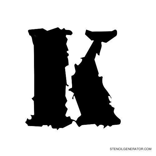 Due Date Alphabet Stencil K