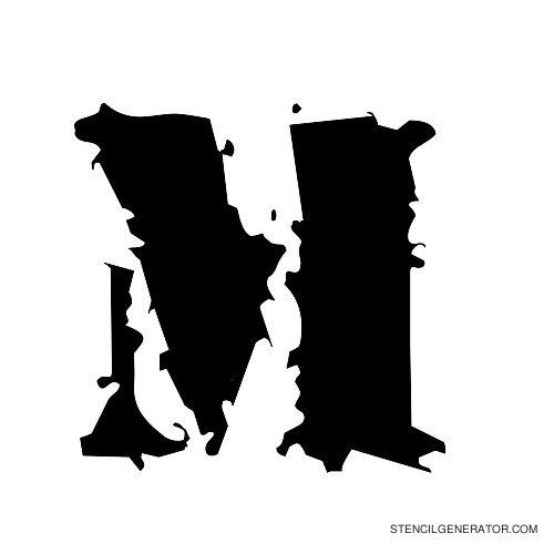 Due Date Alphabet Stencil M