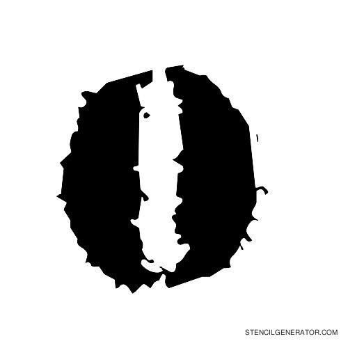 Due Date Alphabet Stencil O