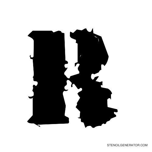 Due Date Alphabet Stencil R