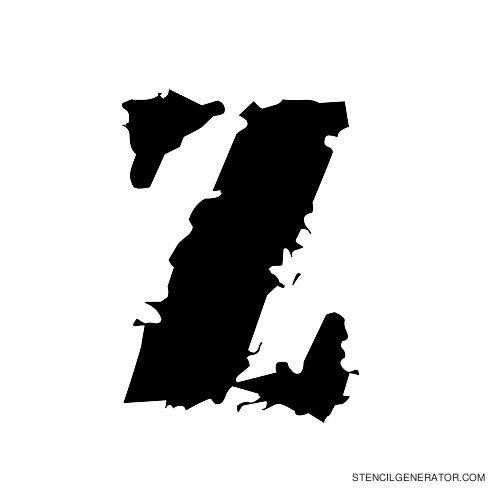 Due Date Alphabet Stencil Z