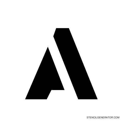 Stencil Gothic Alphabet Stencil A