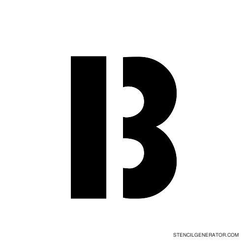 Stencil Gothic Alphabet Stencil B