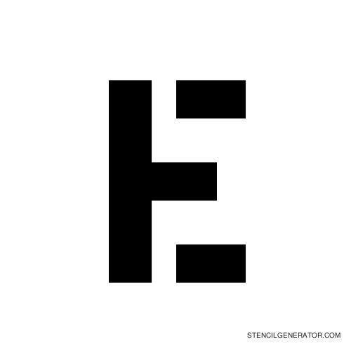 Stencil Gothic Alphabet Stencil E