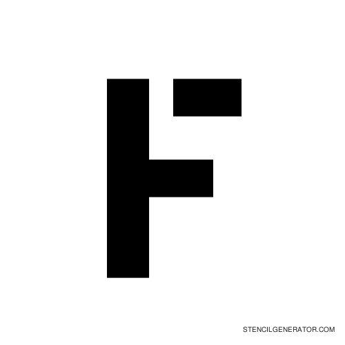 Stencil Gothic Alphabet Stencil F