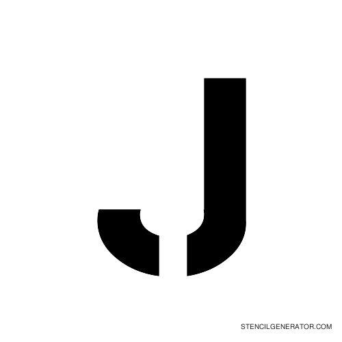 Stencil Gothic Alphabet Stencil J