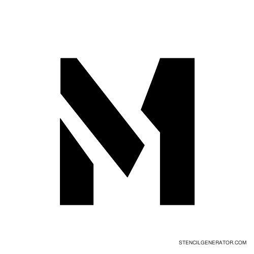 Stencil Gothic Alphabet M