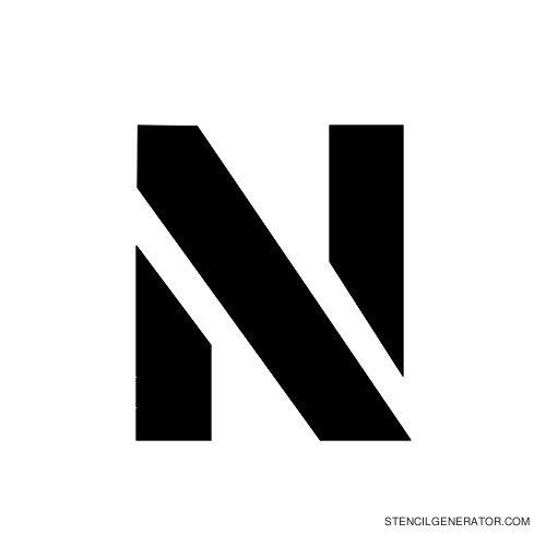 Stencil Gothic Alphabet Stencil N