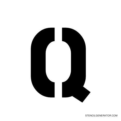 Stencil Gothic Alphabet Stencil Q