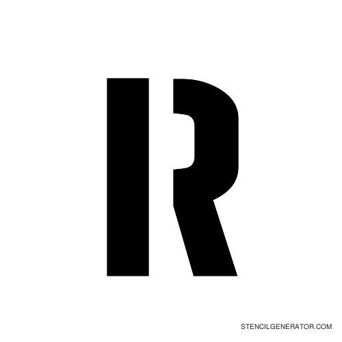 Stencil Gothic Alphabet Stencil R