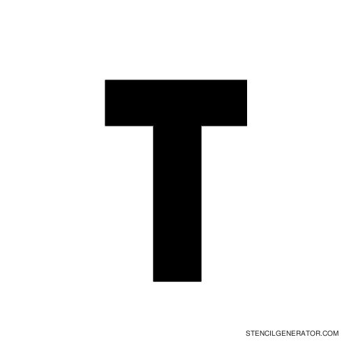 Stencil Gothic Alphabet Stencil T