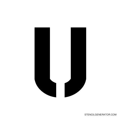 Stencil Gothic Alphabet Stencil U