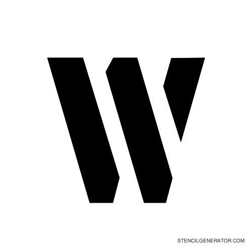 Stencil Gothic Alphabet Stencil W
