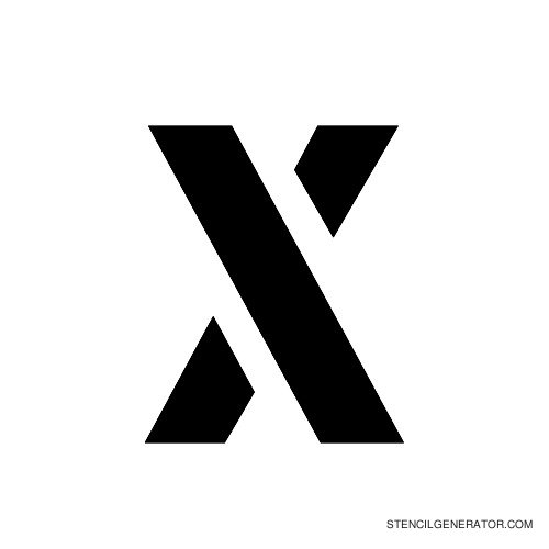 Stencil Gothic Alphabet Stencil X