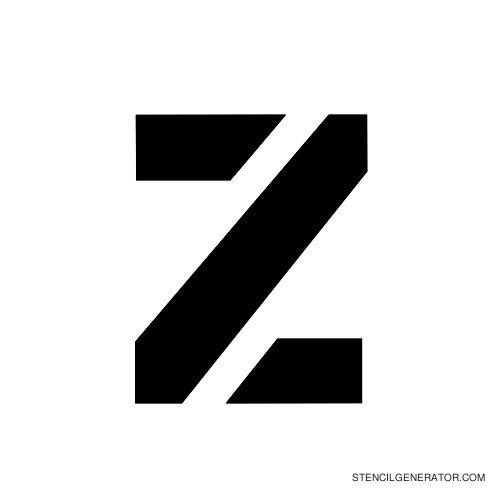 Stencil Gothic Alphabet Stencil Z