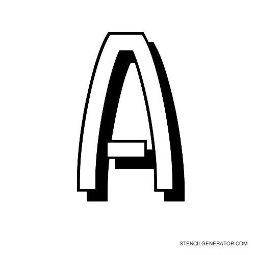 Luxembourg 1910 Alphabet Stencil A