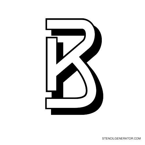 Luxembourg 1910 Alphabet Stencil B