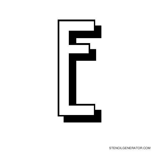 Luxembourg 1910 Alphabet Stencil E