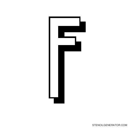 Luxembourg 1910 Alphabet Stencil F
