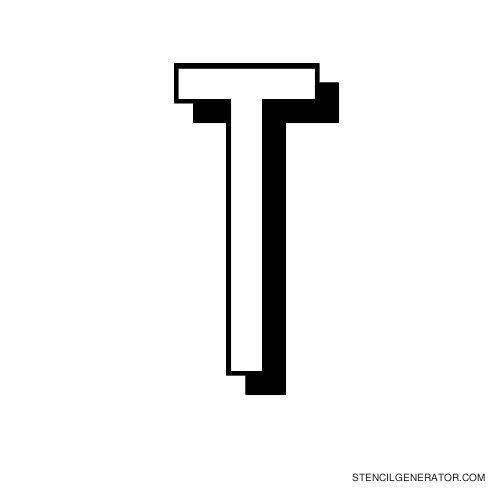 Luxembourg 1910 Alphabet Stencil T