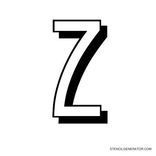 Luxembourg 1910 Alphabet Stencil Z