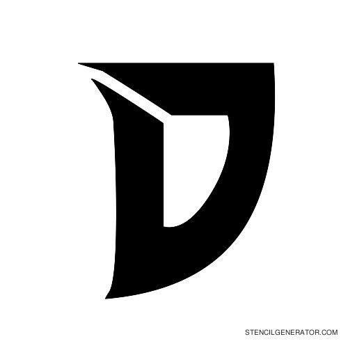 Odishi Alphabet Stencil D