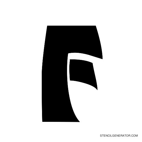 Odishi Alphabet Stencil F