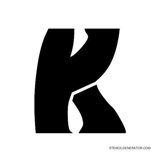 Odishi Alphabet Stencil K