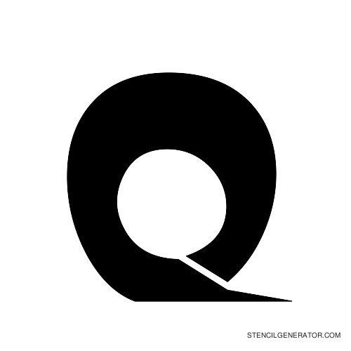 Odishi Alphabet Stencil Q