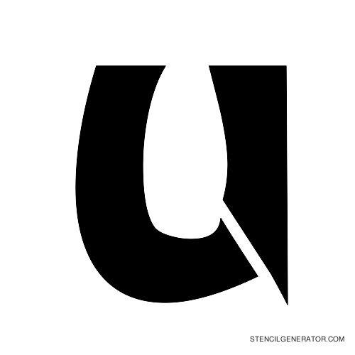 Odishi Alphabet Stencil U