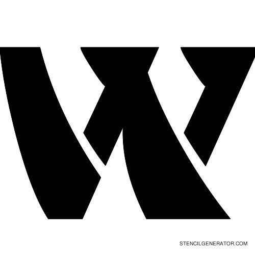 Odishi Alphabet Stencil W