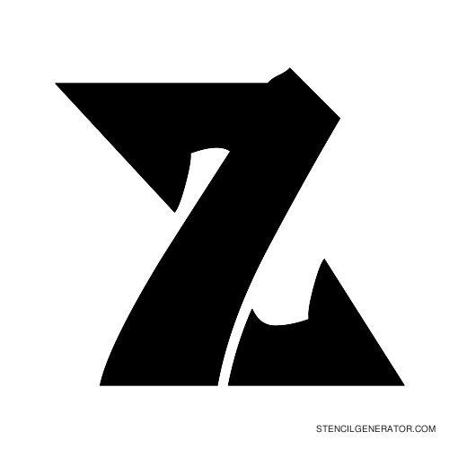 Odishi Alphabet Stencil Z
