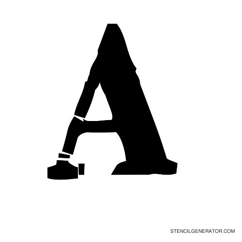 Plastik Film Alphabet Stencil A