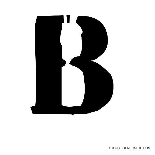 Plastik Film Alphabet Stencil B